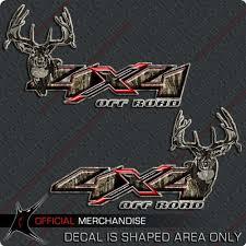 4 4 Deer Hunting Camo Decal Silverado Archery Truck Sticker Fire Fly Camo