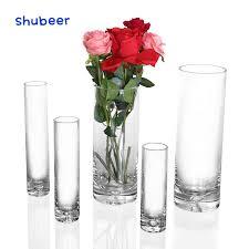1pcs small flower vase tall transpa