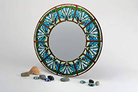handmade large round wall mirror with