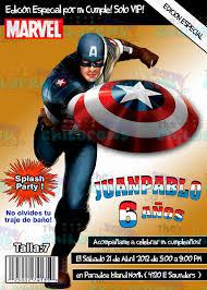 The Childrens Zone Digi Designs Invitaciones Capitan America