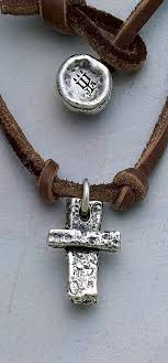 cross on leather necklace jamesavery