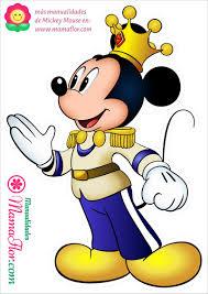 Molde Mickey Mouse Rey Principe Tamano A4 Manualidades Mamaflor