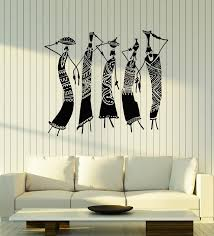 Vinyl Wall Decal Tribal African Women Jugs Dress Ethnic Style Stickers Wallstickers4you