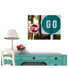 Stop And Go Wall Decal Wm128654 By Wallmonkeys 24 In W X 18 In H Walmart Com