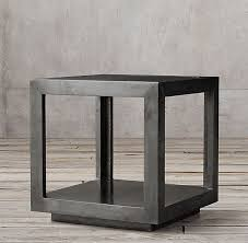 la salle metal wrapped side table in