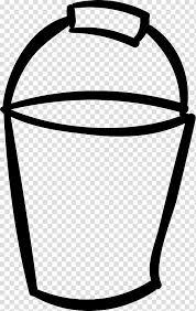bucket and spade gardening drawing