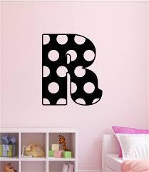 Personalized Custom Polka Dot Monogram Letter Vinyl Decal Wall Stickers Lettering Teen Room Dorm Room Decor Gift
