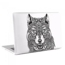 Wolf Tattoo Laptop Macbook Vinyl Decal Sticker