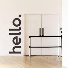 Hello Wall Decal Door Decal Looksugar