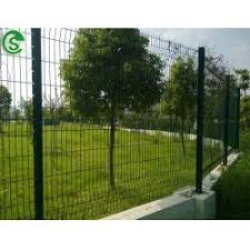 Curved Fencing Nylofor 3d Panels Coated Border Green Garden Wire Mesh Fence With V Folds Gzfence