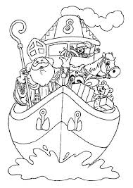 1001 Kleurplaten Sinterklaas Stoomboot Kleurplaat Stoomboot