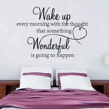 Vova Wake Up Every Morning With The Thought That Something Wonderful Is Going To Happen Inspirational Quote Vinyl Wall Art Be Awesome Today Wall Decal Sticker Black Easy To Apply