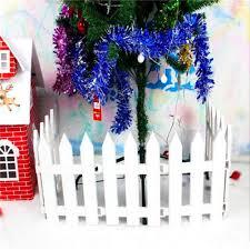 26 12 Inches Aneco 26 Pieces White Plastic Picket Fence Miniature Christmas Tree Fence Xmas Tree