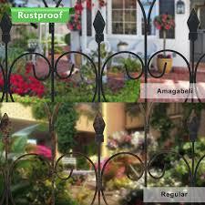 Garden Fence 32in X 10ft Outdoor Coated Metal Rustproof Landscape Wrought Iron Wire Border Folding Patio Fences Flower Bed Fencing Barrier Section Panels Decor Picket Edge Black Walmart Com Walmart Com