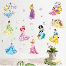 Mermaid Princess Dancing Wall Stickers For Kids Room Decorations Nursery Children Bedroom Decor Pvc Aliexpress