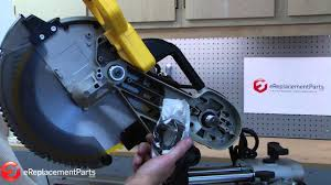How To Replace The Drive Belt On A Dewalt Dw718 Miter Saw A Quick Fix Part 153555 00 Youtube