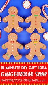 15 minute diy gingerbread man soaps