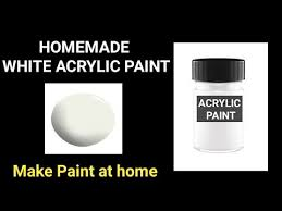 how to make white acrylic paint at home