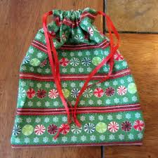 sew an easy drawstring gift bag brown