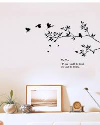 Black Wall Decal Art Sticker Birds Flying To The Tree Branch Wall Art Mural Poster Loving Quote Wall Decal Diy Home Decoration Decor Wall Decals Cheap Wall Decals Deals From Magicforwall 3 07