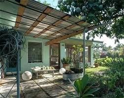 corrugated metal awning patio metal