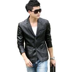 2020 new fashion leather jacket men