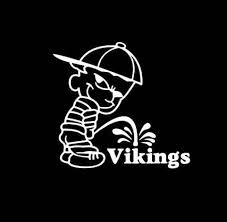 Calvin Piss On Minnesota Vikings Vinyl Decal Stickers Sticker Flare Llc
