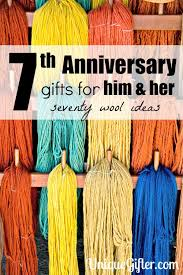 70 wool 7th anniversary gifts for