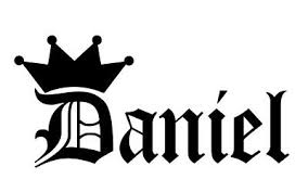 Daniel Vinyl Sticker Decal Crown Name Old English Choose Size Color Ebay