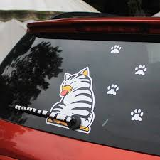 Kitty Cat Rear Windshield Wiper Decal Greencartxpress