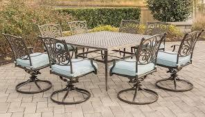agreeable steel patio furniture on