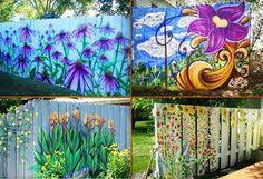 60 Painted Fence Ideas In 2020 Fence Paint Fence Fence Art