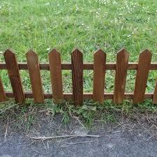 Selections Set Of 9 Wooden Picket Fencing Lawn Edging Panels 50cm X 20cm Decorative Fences