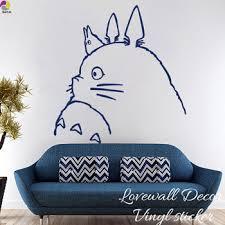 Cartoon My Neighbor Totoro Wall Sticker Kids Room Spirited Away Chihiro Haku Cat Animal Decal Living Room Vinyl Decor Art Buy At The Price Of 12 18 In Aliexpress Com Imall Com