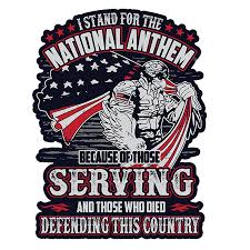 I Stand For The National Anthem Because Of Those Serving Reflective Car Sticker Decal Wall Stickers Aliexpress