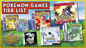 Pokemon Game Tier List | Ranking All Main Series Pokemon Video ...