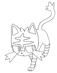 Pokemon Coloring Pages Litten Kleurplaten Pokemon Afbeeldingen