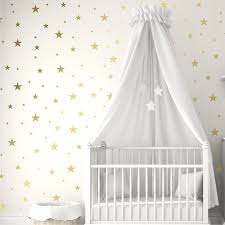 Gold Silver Stars Wall Stickers For Kids Room Baby Nursery Room Decoration Diy Art Stickers Wall Decals Home Decoration Bedroom Wall Stickers Aliexpress