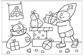 Kleurplaat Sinterklaas Kleurplaten En Pom Poms