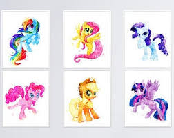 Little Pony Wall Art Etsy