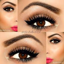cute eye makeup ideas for brown eyes