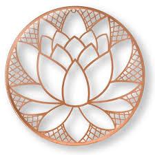 lotus blossom metal wall art 104035