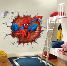 3 13aud Wall Sticker 3d Spider Man Kids Room Decor Children Gift Wall Decals Pvc Ebay Home Garden Spiderman Room Superhero Room Spiderman Bedroom