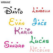 Customized Personalized Name Children Home Decor Nursery Kids Room Vinyl Sticker Ebay