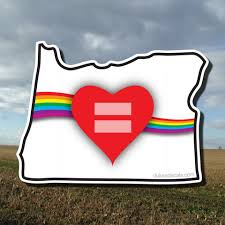 Red Equality Heart Oregon Decal Dukes Decals
