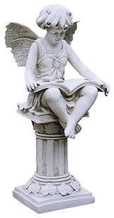 british reading fairy statue