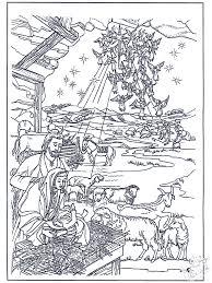 Kleurplaten Stal Bijbelkleurplaten Kerst
