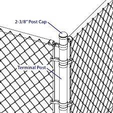Yardlink 2 3 8 In Black Metal Chain Link Fence Dome Cap In The Chain Link Fence Post Caps Department At Lowes Com