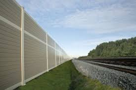 The Sound Barrier Wall System Is An Acoustically Absorbent High Transmission Loss Noise Barrier Wall System Sound Barrier Wall Acoustic Barrier Sound Barrier