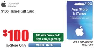 100 itunes gift card for 90